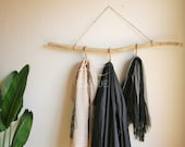 Driftwood towel coat rack wall mount hanger modern scarf hanging garment clothing rustic bathrobe branch gift natural beach coastal hallway