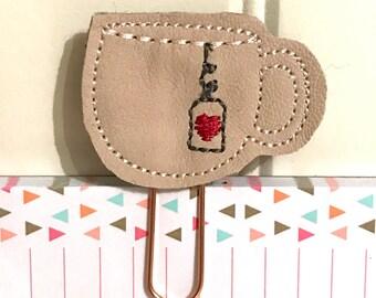 "Sweet little Feltie - Paperclip, Bookmark ""tea cup"""
