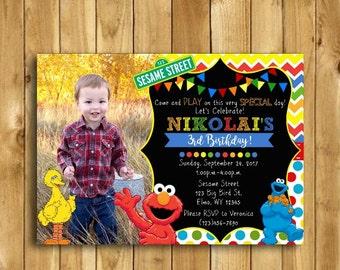Sesame Street Birthday Invitation Sesame Street Invitation Sesame Street Party Elmo Birthday Invitation Elmo Invitation Sesame Street Invite