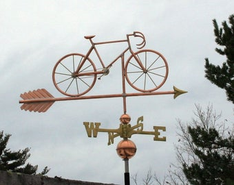 Copper Bicycle Weathervane - BH-WS-524