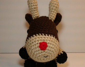 Crochet Reindeer, dark brown