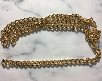 Gold plated link chain 10mm [1 meter]