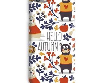 Autumn iPhone Case, Fall iphone case, Bear iphone 6 case, Animal iphone 6 case, Flowers iphone 6s case, Bees iphone case