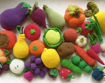 crotchet vegetables fruit berries