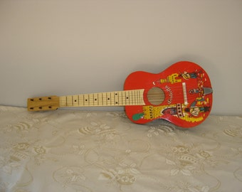 Guitare Giulietta jouet. Guitar toy. Vintage.