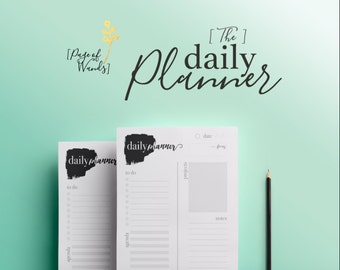Printable Daily Planner -- To Do List -- Notes -- Agenda -- Dairy -- Artists and Entrepreneurs -- Home and Work