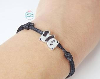 Panda bear kawaii cute animal bracelet | Sterling Silver Panda bracelet | Panda bear bracelet | Cute bear panda animal | Panda