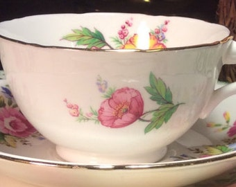 Pretty in Pink-Royal Grafton Teacup and Saucer
