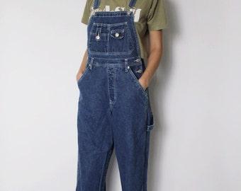 Vintage 1990s Denim Overalls | Long Overalls | Dungarees | Revolt Overalls | S - M