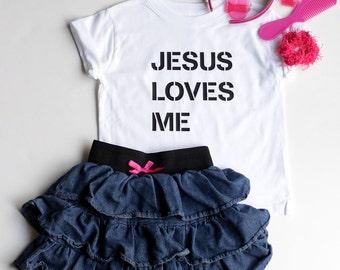 Christian T Shirts for Toddler T Shirt Christian Shirts Boy Jesus Loves Me Shirts For Girls Shirts Cute Shirt Toddler Boy Gift Toddler Girl