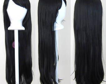 "Tomoyo - 32"" Wig Long Straight Cut w/ Long Bangs (Solid Colors)"
