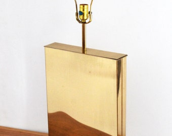 Mid Century Modern 1970's Rare Curtis Jere Large Brass Table Base Lamp