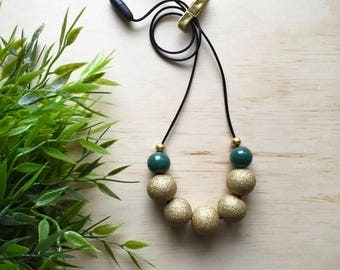 Australian Wattle Necklace (Limited Edition) - gift for her, teacher present, polymer clay, accessories