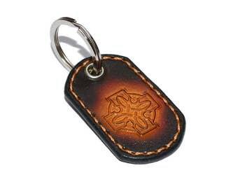 Black Leather Keychain / Leather Key Holder, Leather Wristlet Keychain / Key Ring, Leather Key Fob, Mens Keychain, Leather Key Chain