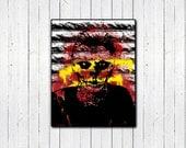 "Tate Langdon American Horror Story 11x14"" Print, Evan Peters Print, Murder House, AHS, Grafitti Print, Skeleton"