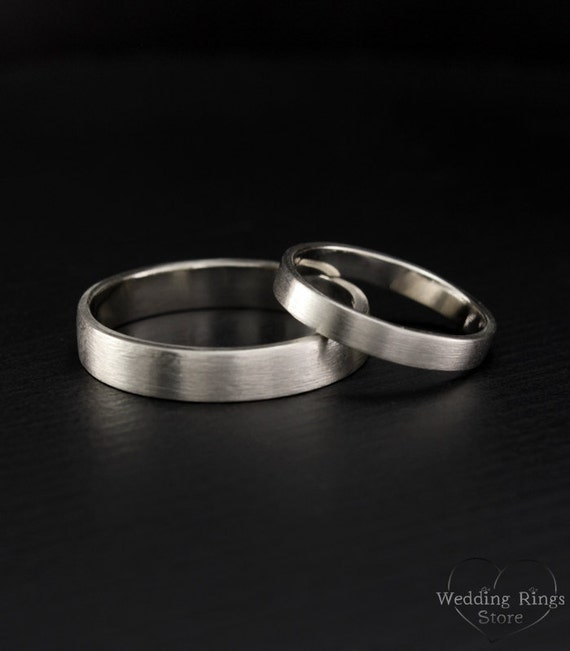 simple ring set his and hers promise rings simple wedding