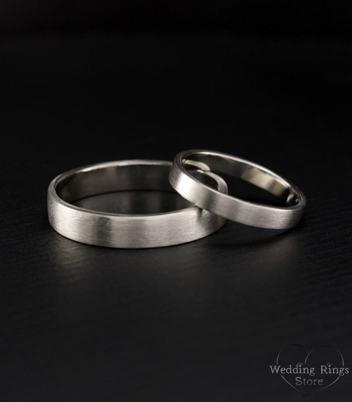 simple ring set his and hers promise rings simple wedding. Black Bedroom Furniture Sets. Home Design Ideas