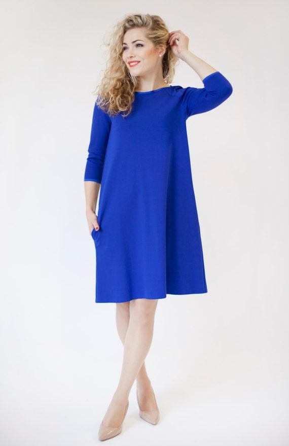 Royal Blue Long Sleeve Dress