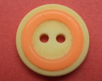 12 buttons 15mm yellow orange (1223) button