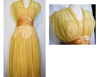 Fred Perlberg Dance Originals Yellow Gown