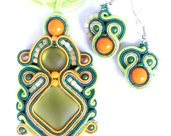 Lady soutache jewelry sets