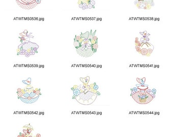 Decorative-Lady-Lace ( 10 Machine Embroidery Designs from ATW )