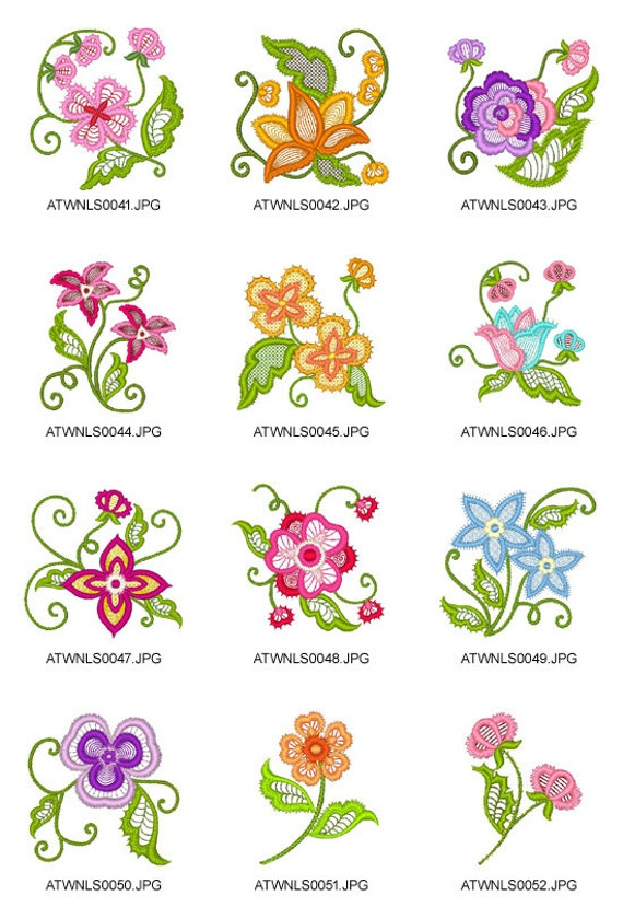 Lace flowers machine embroidery designs from atw