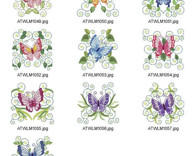 Mylar-Butterfly-Flight. ( 10 Machine Embroidery Designs from ATW )