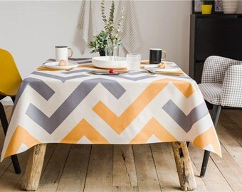 Moderne Geometric Table Cover / Party Table Tablecloth / Indoor Outdoor  Tablecloth / Rectangle Tablecloth /