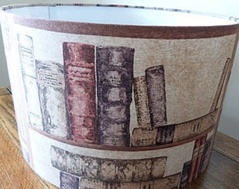 Lampshade - Vintage Book Ends Lamp Shade