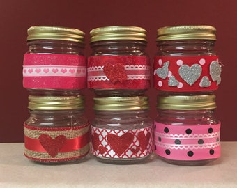 VALENTINE'S DAY CANDLE- 8 Ounces - Valentine's Day Candle - Soy Candle - Homemade Candle - Pick Your Scent & Design - Natural Candle