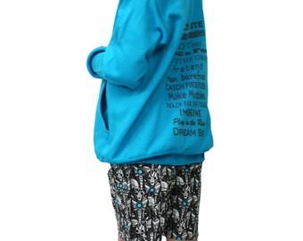Kids zip hoodie Dream big, fly a kite, super comfy!