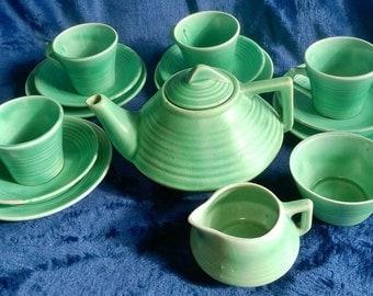 Vintage Children's China Tea Set, Carltonware, Art Deco Tea Set, Vintage China, Miniature Tea Set, Dolls Tea Party, Collectible, 1920s