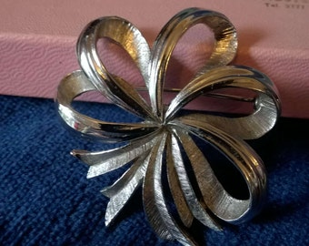 Trifari Brooch, Vintage Brooch, Vintage Trifari Jewelry, Jewellery, Retro, Silver Brooch, Gift for Her