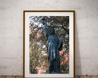 "Paris Photography, Miss Liberty, Statue Of Liberty, Large Wall Art Print, 20 cm x 30 cm, 8"" x 12"""
