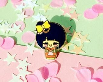 Emili Kimono Girl Enamel Pin