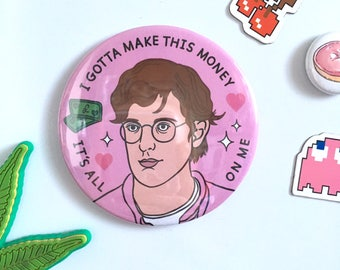 Louis Theroux - Large Round Magnet 76mm - fridge magnets, Weird Weekends - Rap Battle - Money - Funny - Gift - BBC