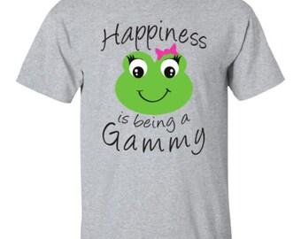 Gammy Shirt - Happiness is being a Gammy T-shirt - Grandma Gammy Tee - Best Gammy Gift - Tshirt for Gammy