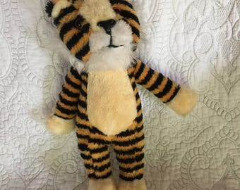 "Vintage 13"" Tiger Stuffed Animal Shalom Toy Co Circa 1989 - Upright Tiger Plush Toy - Striped Tiger"