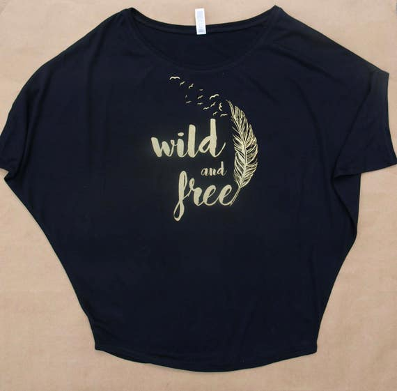 wild and free women's draped short sleeve tee