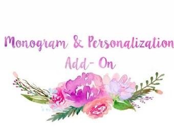 Monogram Add-On, Embroidery Personalization