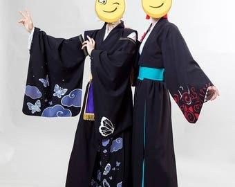 Kimono-like original cosplay costume with painting Japanese style