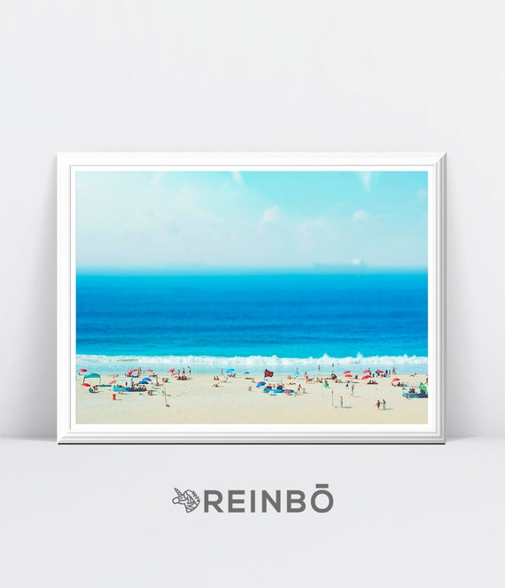 Beach Photography, Wall Art Print, Ocean Water, People, Art Print, Photo, Printable Large Poster, Digital Download, Modern Contemporary,