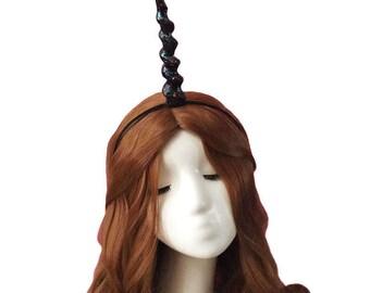 Unicorn,Iridescent Black Horn Headband, Princess, Lolita , Lori, Gothic,Halloween,Christmas