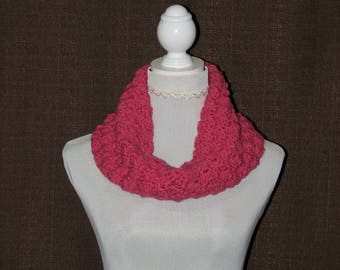 Cowl snood scarf, eternity scarf, chunky cowl snood, crochet scarf, chunky scarf, cowl scarf, neck warmer, woman's scarf, circle scarf