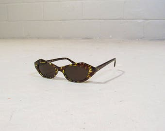 NOS 90s angular cat eye sunglasses