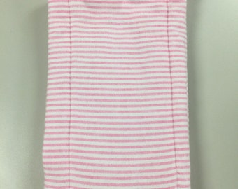 Flannel/Diaper Burp Cloth - Pink striped