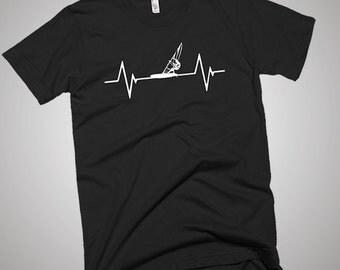 Wind Surfing Heartbeat T-Shirt, Gift Idea, Funny Shirt, Best Tee