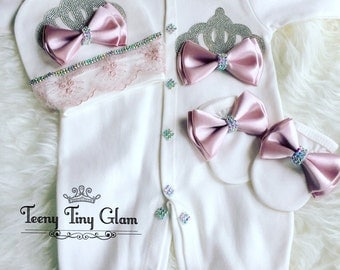 Newborn Take Home Outfit Baby Girl Coming Home Outfit Baby Girl Going home Outfit Baby Shower