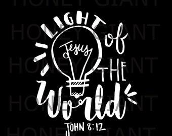 Light of The World Bible Verse Print